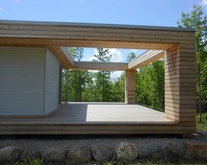 формирование красивого ландшафтного вида конструкцией террасы