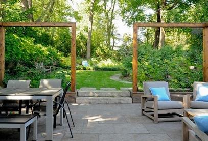 простые прямоугольные арки в роли пейзажных рам
