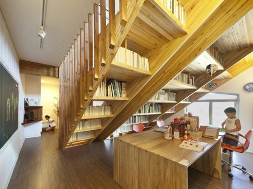 лестница как зональная перегородка