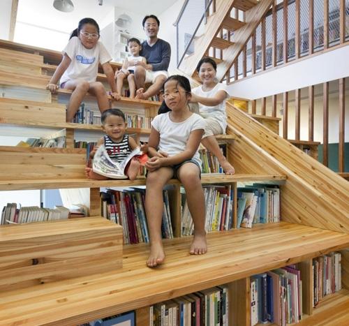 лестница как домашняя библиотека