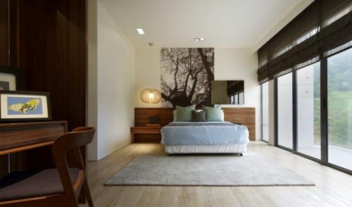 современный декор в интерьере спальни