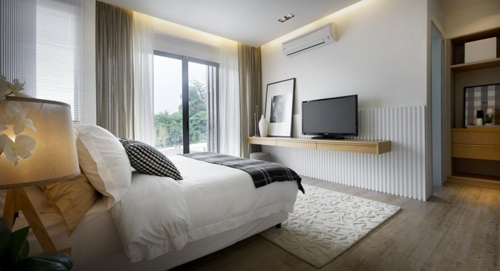 спальня без плинтусов и галтелей