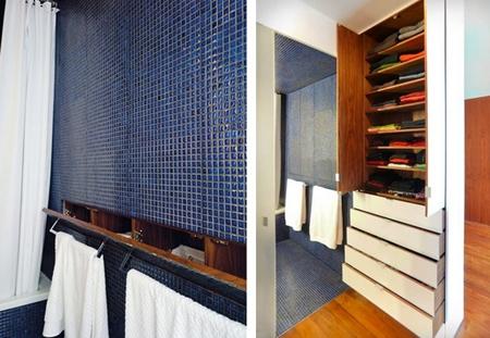 встроенные шкафы в интерьере ванной