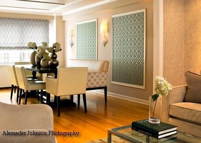 традиционная отделка стен текстилем