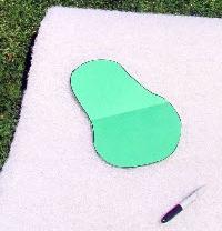 картонный шаблон для изготовления плавающей клумбы