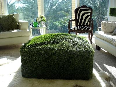 оттоманка из искусственной травы