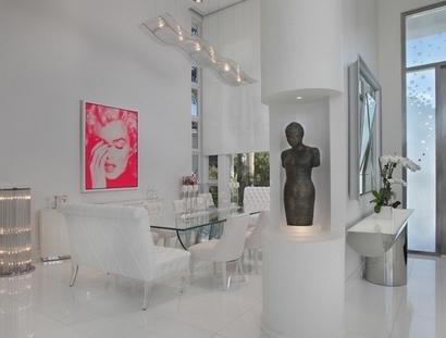 белая столовая в частном доме