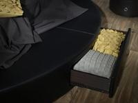 круглая кровать с выдвижными ящиками