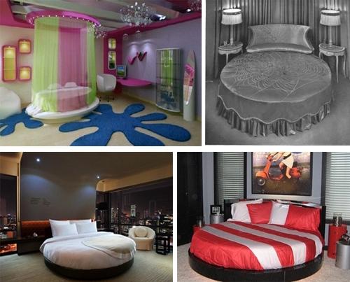 круглые кровати в спальнях, детских и подростковых комнатах