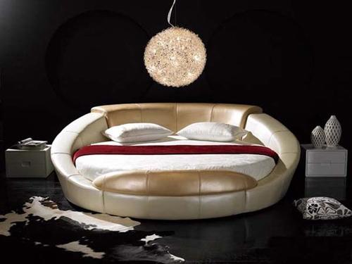 стильная круглая кровать