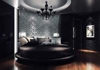 круглая кровать на круглом подиуме