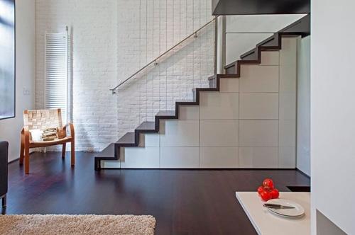 встроенные шкафы под лестницей