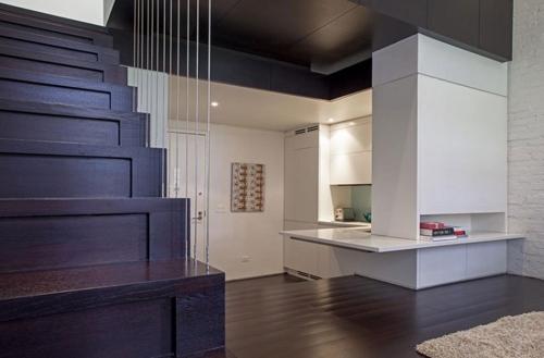 стильная двухуровневая квартира площадью 38 м2