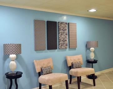текстильные панно в одном стиле с другими элементами интерьера