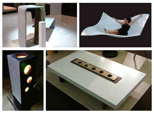 литые цементные изделия из инновационной продукции Effix