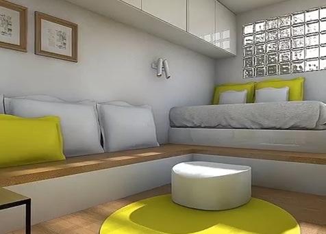 открытая планировка маленькой квартиры студии