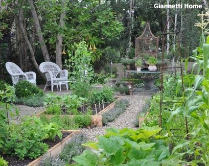 красивый огород на маленьком участке