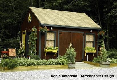 компактный огород вокруг летнего домика