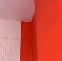 креативная покраска стен в спальне