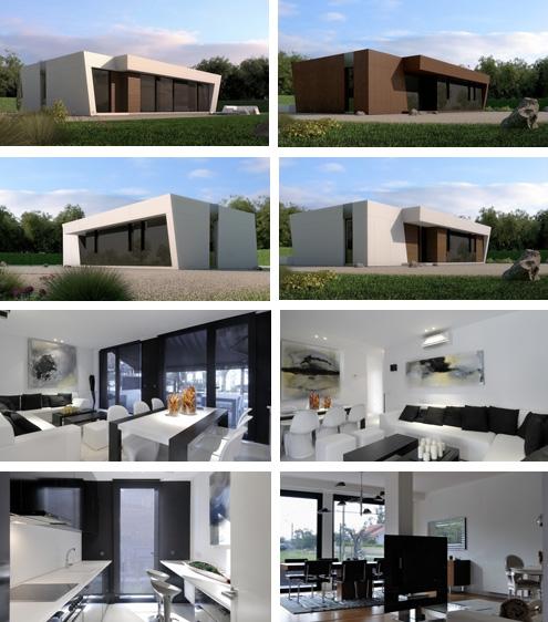 версии базовой модели модульного дома