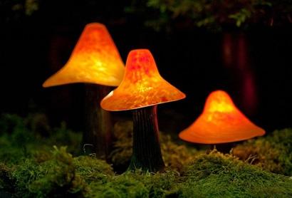 светильники для ландшафтного освещения в виде грибов