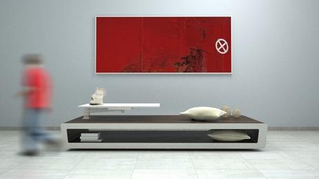 мультифункциональная мебель с поворотной столешницей