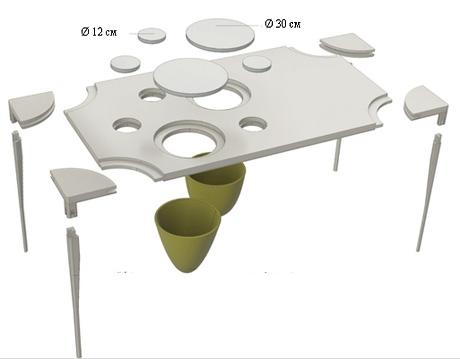 креативная идея дизайна стола