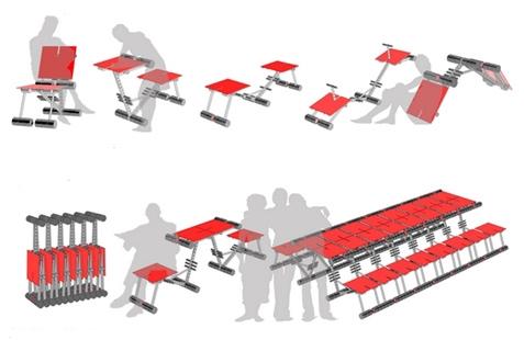 варианты трансформации и сочетания креативной мебели