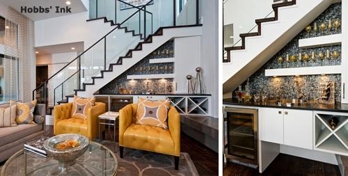 роскошный бар под лестницей