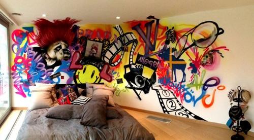 многоцветная роспись в стиле граффити
