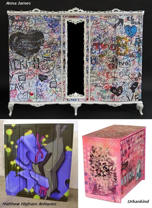 роспись мебели в стиле граффити