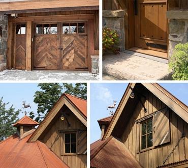 элементы фасада охотничьего домика