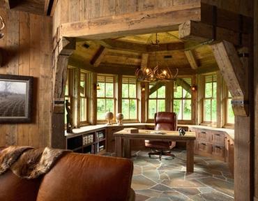 кабинет в охотничьем домике