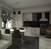 маленькие черно-белые квартиры