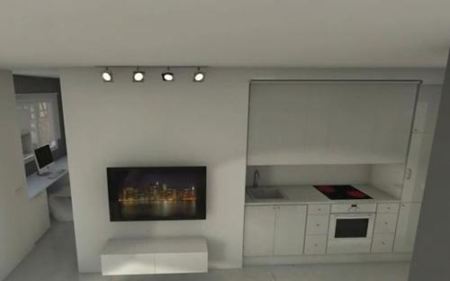 дизайн кухни студии в маленькой квартире
