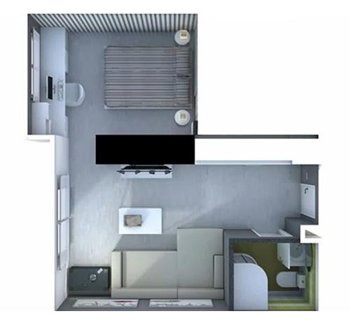 Г-образная планировка маленькой квартиры