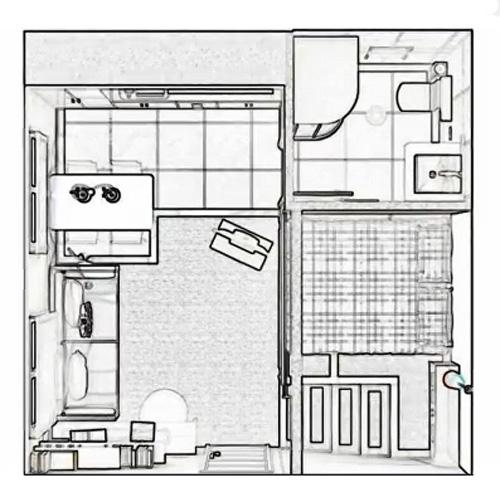 планировка квадратной квартиры студии 25 м2