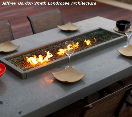 стол со встроенным газовым очагом