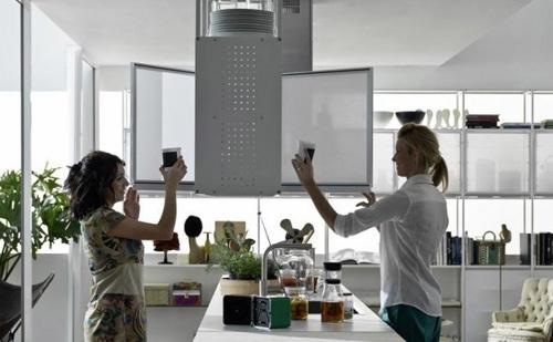 светопрозрачные текстильные дверки для кухонных шкафчиков