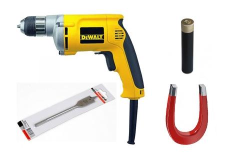 инструменты и материалы для устройства тайника