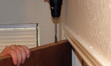 отверстие для тайника в дверном полотне