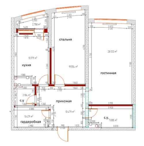 типовая планировка квартиры