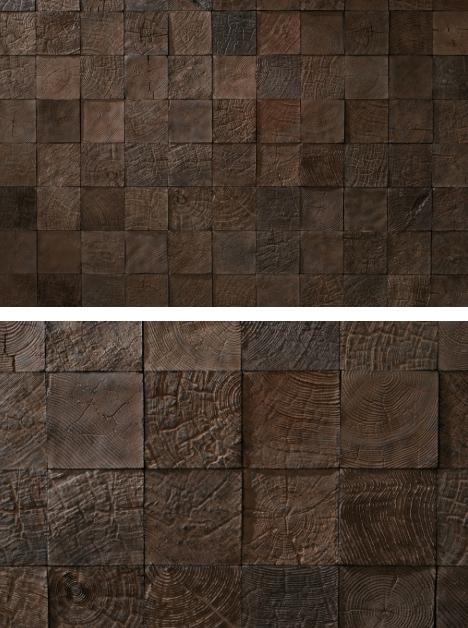 гипсовая мозаика для стен с фактурой дерева