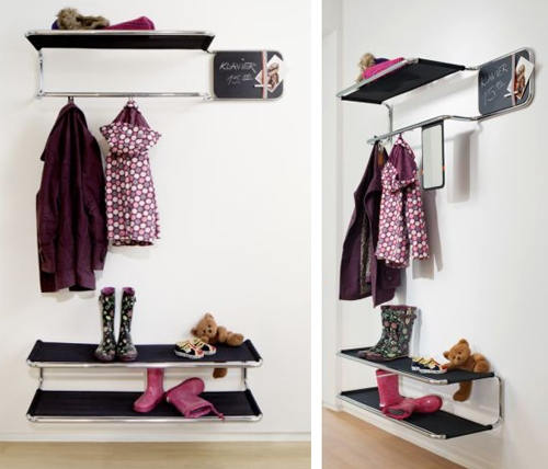 использование модульной мебели в интерьере прихожей