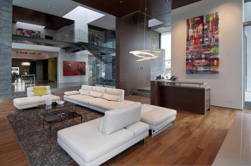 открытая планировка интерьеров большого частного дома