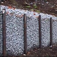 подпорная стена из металлической сетки