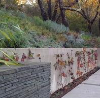 монолитная бетонная подпорная стена