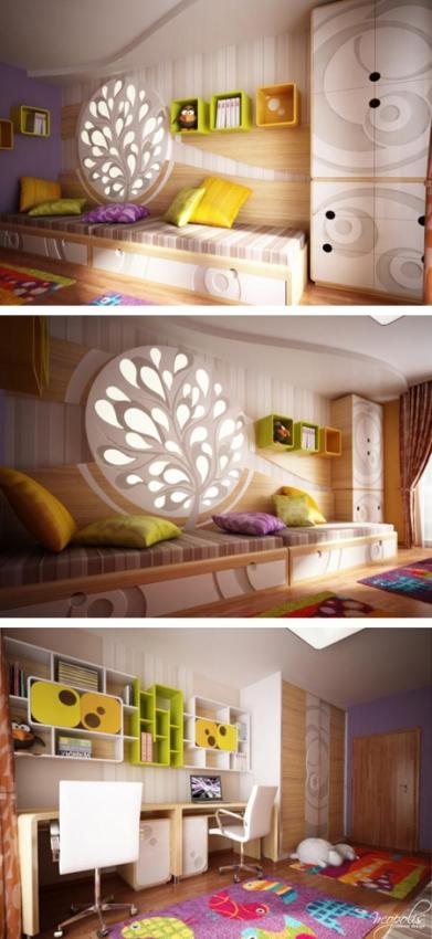 уникальная комната для двух детей