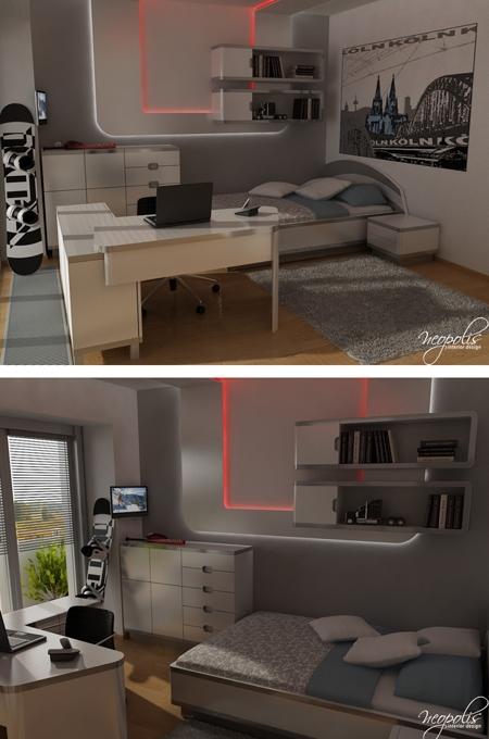 стильная комната для подростка мальчика