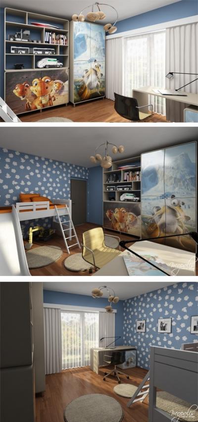 оригинальная мебель для детской комнаты